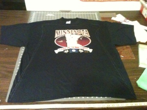 Before image of Minnesota T-shirt