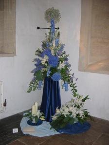 Flowers inside church