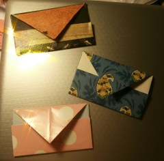 Origami credit card holders
