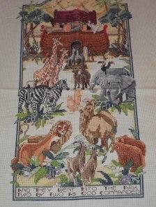 Cross stitched animals
