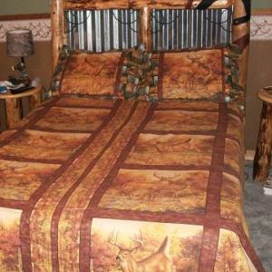 Deer bedspread