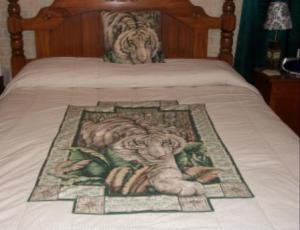 White tiger bedspread