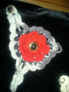 Red and gray handwarmer