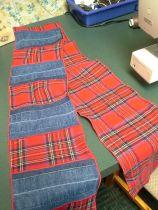 denim and plaid scarf