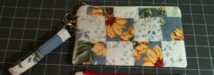 Sunflower wristlet