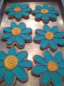 Blue flower cookies