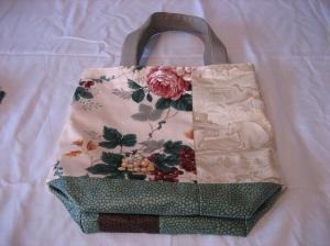 Green upholstery bag