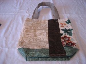 Other side of Green upholstery bag